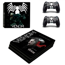 Venom Spiderman PS4 Pro Skin Sticker For PlayStation 4 Console and 2 Controllers Stickers Decal Vinyl