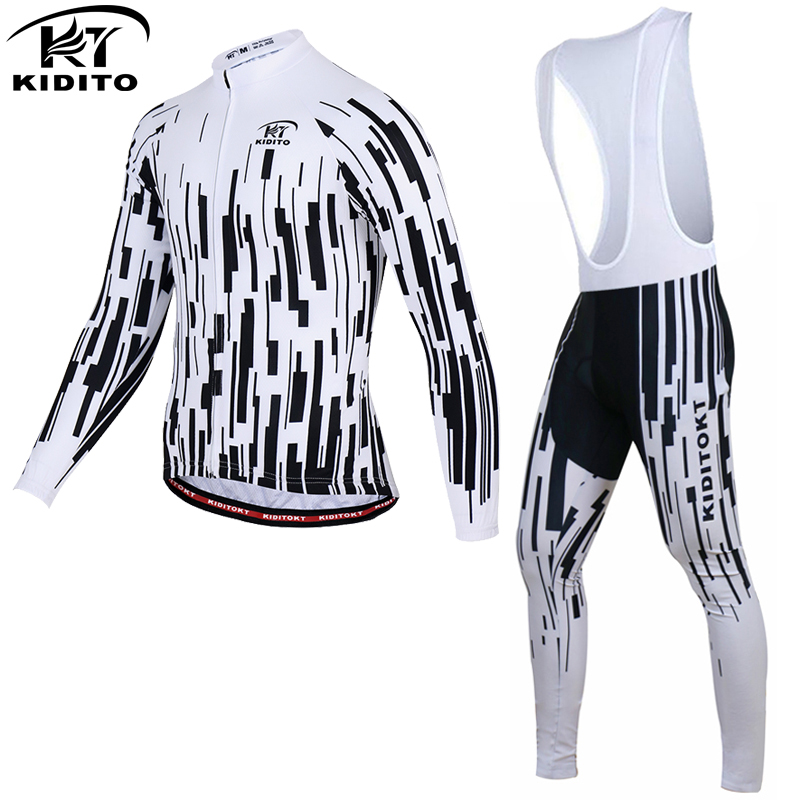 KIDITOKT 2017 Winter Fleeced Thermal Cycling Clothing Set Racing Bike Sportswear Maillot Ropa Ciclismo Invierno Bicycle Jersey x tiger winter long cycling jersey set racing bike thermal fleece ropa roupa de ciclismo invierno bicycle clothing cycling set