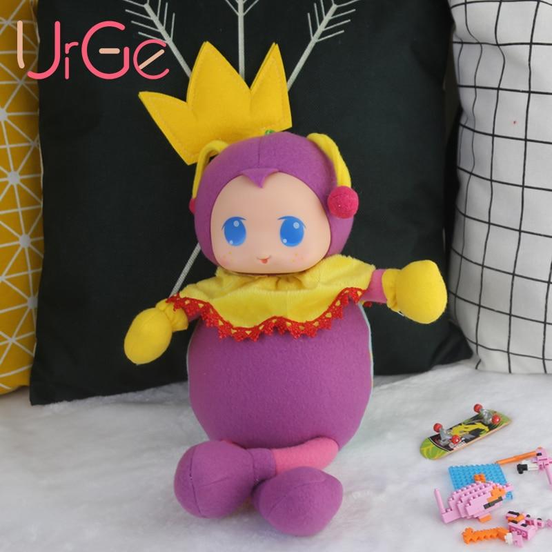 Kawaii alvó lebegő állat töltött baba plüss Rajzfilm lila bogár bébi megnyugtató babák játékok gyermek születésnapi ajándék  t