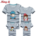 Ming Di Summer Style More Colors Family Look 95%Cotton T Shirts Family Matching Clothes Father & Mother & Kids Outfits Clothing