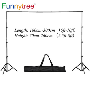 Funnytree  3*2.6m/10*8ft Professional Photo Backdrops stand Background Support System 2 light stands + 1 cross bar + carry bag