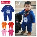 Venda quente a roupa Do Bebê masculino romper manga longa recém-nascido arquivo aberto 0-2 outono e inverno