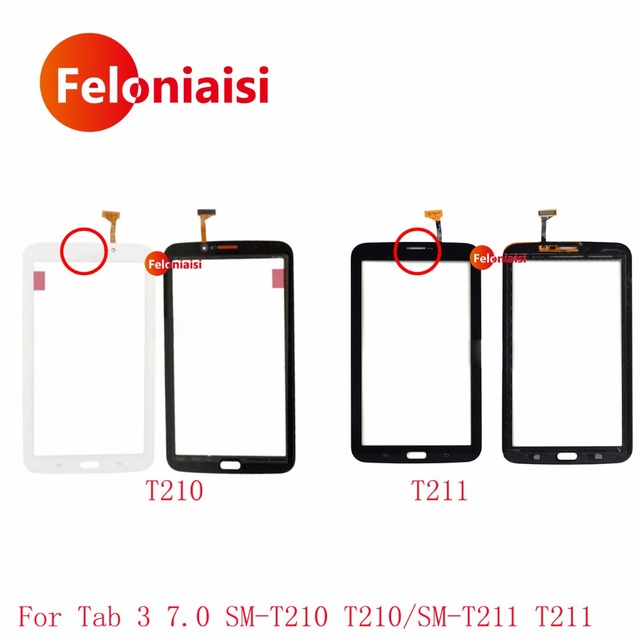 """7.0"""" For Samsung GalaxyTab 3 7.0 SM-T210 T210 and SM-T211 T211 Touch Screen Digitizer Sensor Front Outer Glass Lens Panel"""