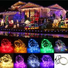 10M 12V 100 LED USB Copper Wire Flexible Strip Light for Xmas Wedding Party Decorating White/Red/Yellow/Blue/Blue/Purple/Pink