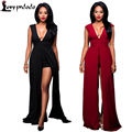 Autumn Jumpsuit  2016 New Women Bodysuit Women Rompers Sexy Backless Sleeveless Black Bodycon Plus Size Women Clothing Jumpsuits