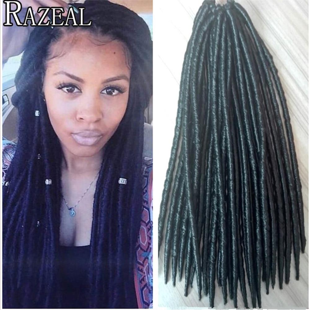 Razeal 24 Strands Crochet Braids Twist Hair Extensions Synthetic