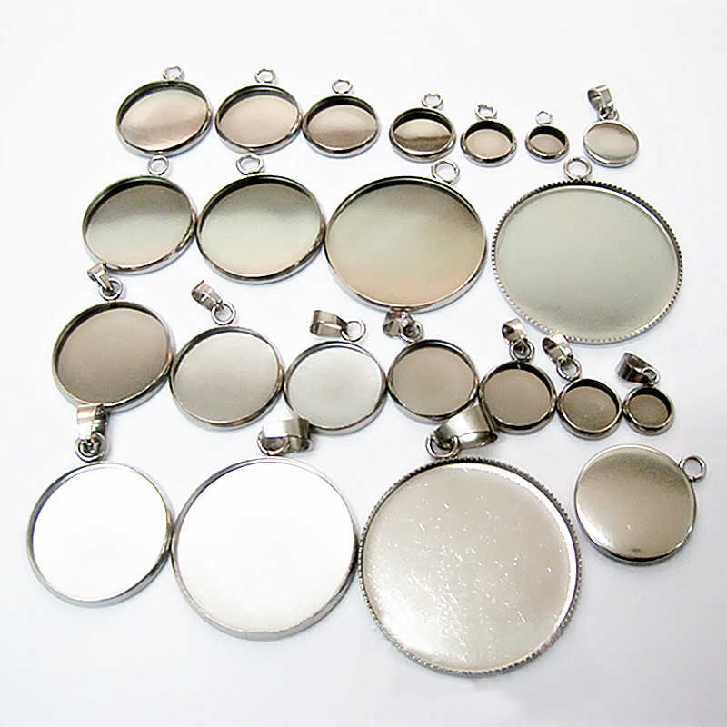 Satış 6/8/10/12/14/16/18/20/25/30 /35mm Gümüş DIY Cabochon 10 PCS El Yapımı Bilezik Charms Kolye Kolye Bulgular Aksesuarları