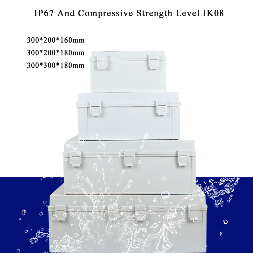ABS Plastic Dustproof Waterproof IP67 Junction Box Electrical Project Enclosure Cable Connect Power Project Case Junction Box
