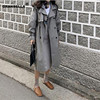 Rosyjska jesień zima na co dzień luźne wykop płaszcz z sashes oversize podwójne piersi rocznika płaszcze wiatrówka znosić