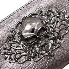 Skull Metal Pattern Wallet