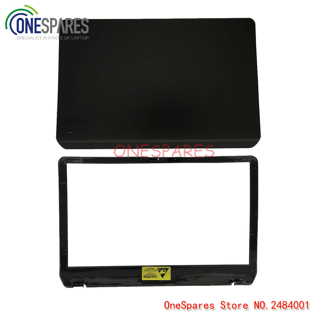 New Black For HP For Pavilion For Envy M6 M6-1000 Series Cover Lcd Black with Silver Trim AP0R1000140 LCD TOP COVER 686895-001