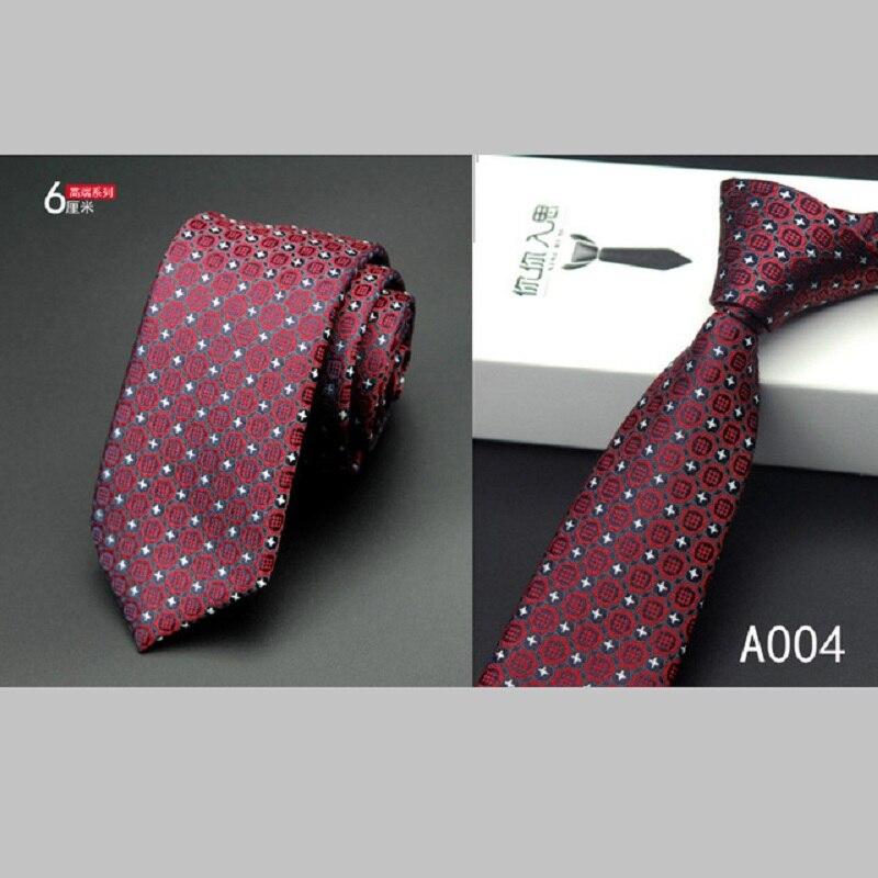 Nové módní pánské kravaty pruhované hedvábné kravaty pro muže 6cm tenké hubené kravaty pro svatební párty 1200 jehel vysoké kvality