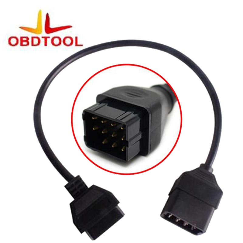 For 12 Pin OBD 2 Connector For Renault 12Pin Adapter Car Accessories Diagnostic Extension OBD Cable 16 Pin