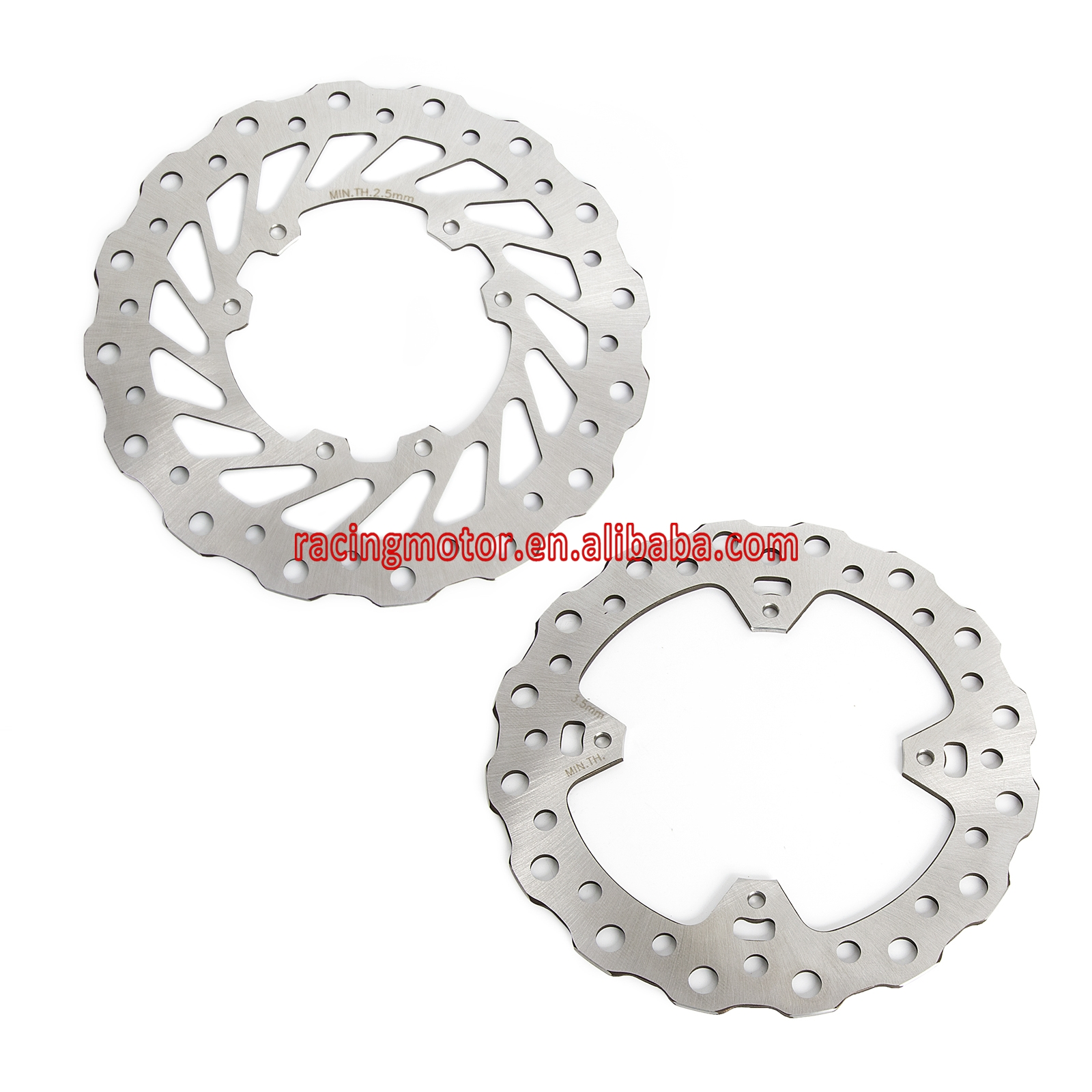 Motorcycle Front Rear Wave Disc Brake Rotor for Honda CR125R CR250R 02 08 CRF250R CRF250X 04