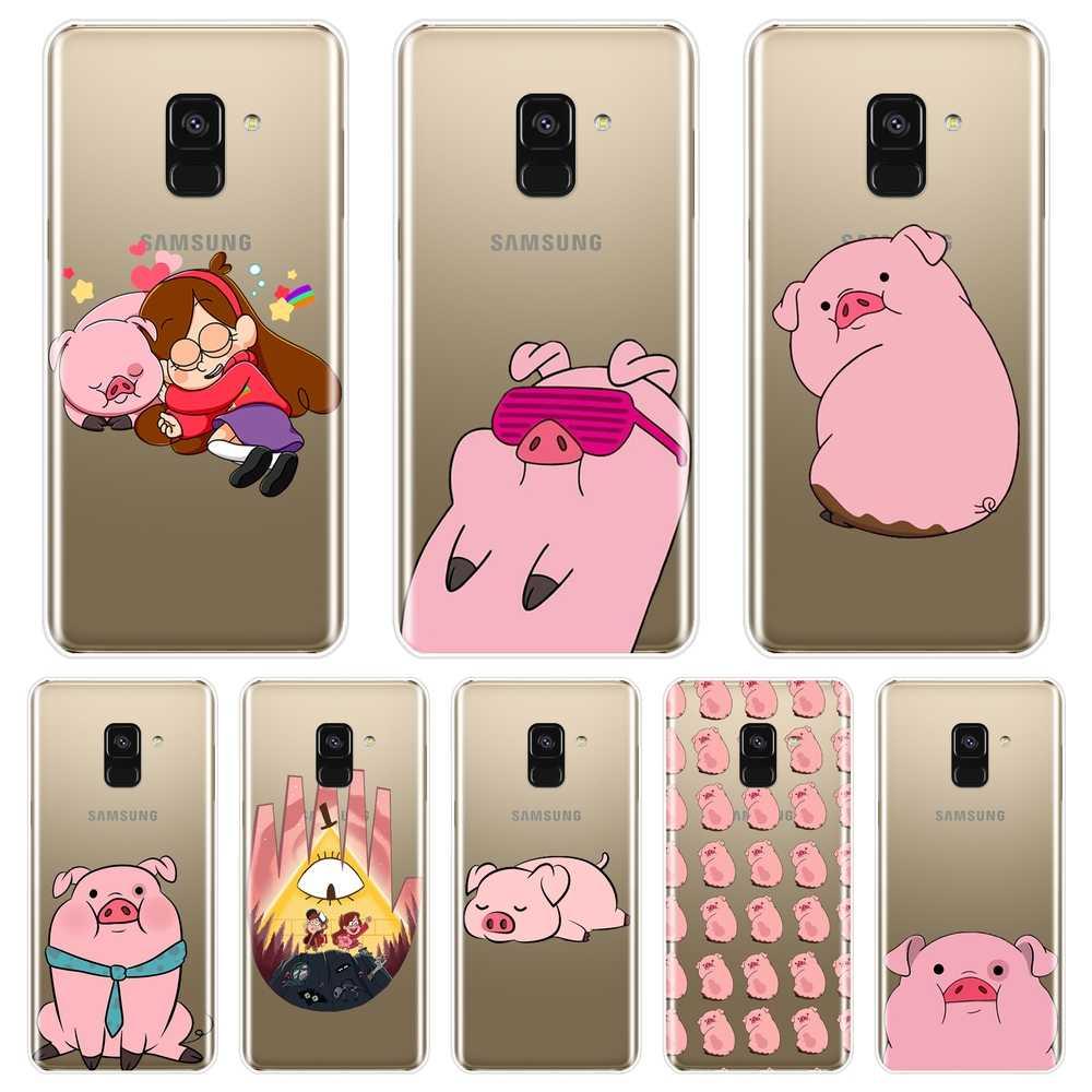 Silicone Mềm Ốp Lưng Điện Thoại Samsung Galaxy A3 A5 2016 2017 A6 A7 A8 2018 Trọng Lực Rơi Trong Cho samsung A6 A8 Plus 2018