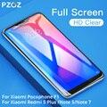 PZOZ Xiao mi Pocophone F1 Vidro mi 2 2 S 5X A2 lite Vidro Red mi Nota 5 6 7 k20 Pro 4X5 Plus 7A Tela de Vidro Temperado Cobertura Completa