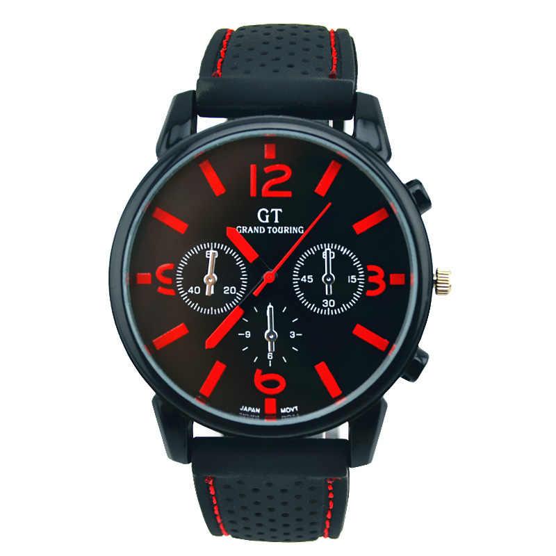 2018 屋外クォーツ時計男性カジュアルミリタリーウォッチメンズスポーツ腕時計シリコーンファッション時間レロジオ masculino