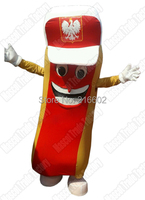 Deluxe Hotdog Mascot Costume Mask Fastfood cosplay costumes fancy dress for Halloween Carnival party event