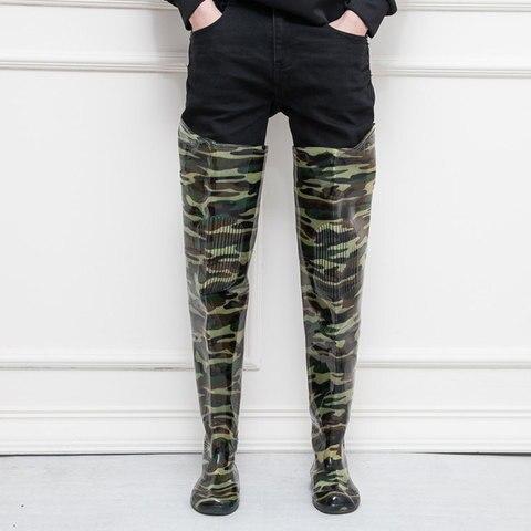 alto salto 80cm camuflagem botas de pesca