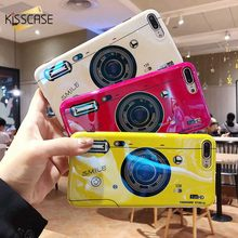 KISSCASE Camera Flash Phone Cases For iPhone 6 6s 7 8 Plus Cover IMD Colorful X XS MAX XR