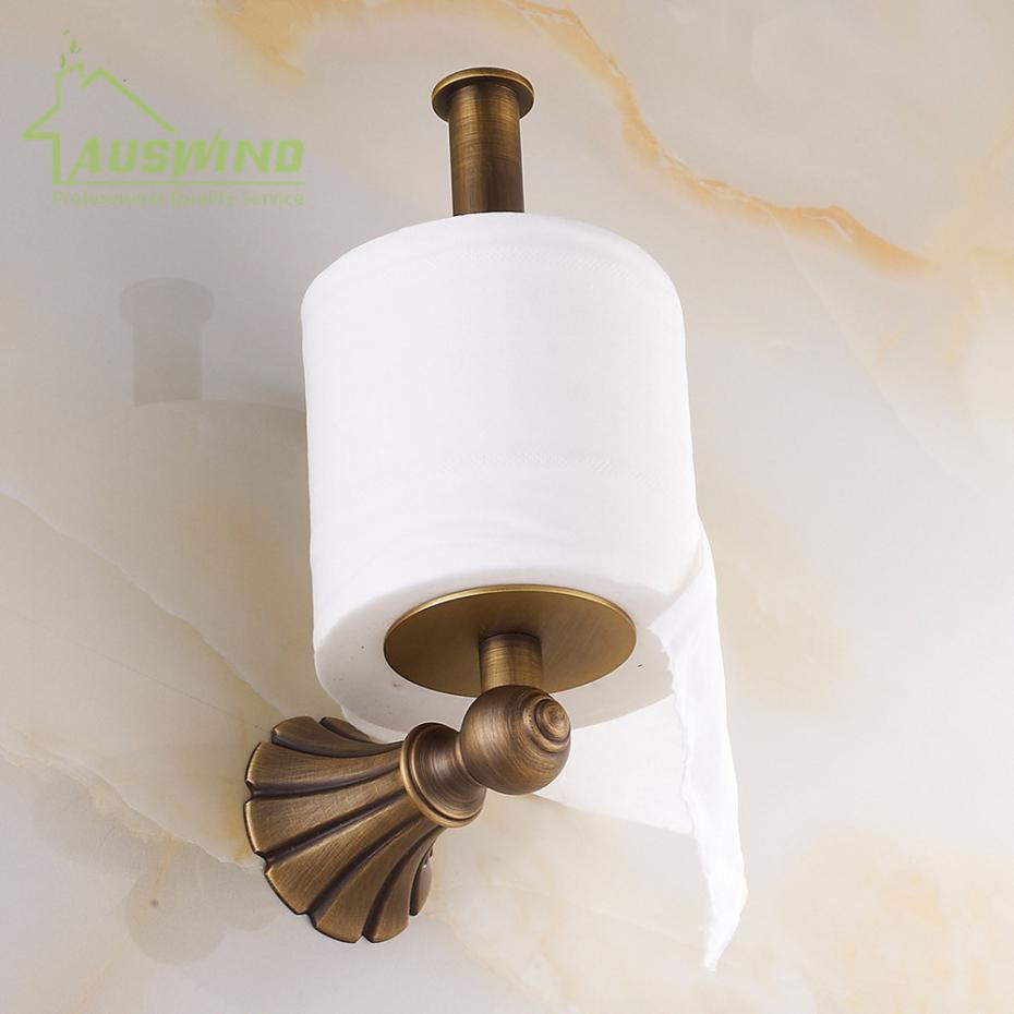 Antique Solid Brass Toilet Paper Holder Luxury Carved Wall Mounted Toilet Tissue Box Roll Holder Bathroom Accessory antique carved toilet paper holder brushed tissue holder carton solid brass bathroom accessories wall mounted bathroom products
