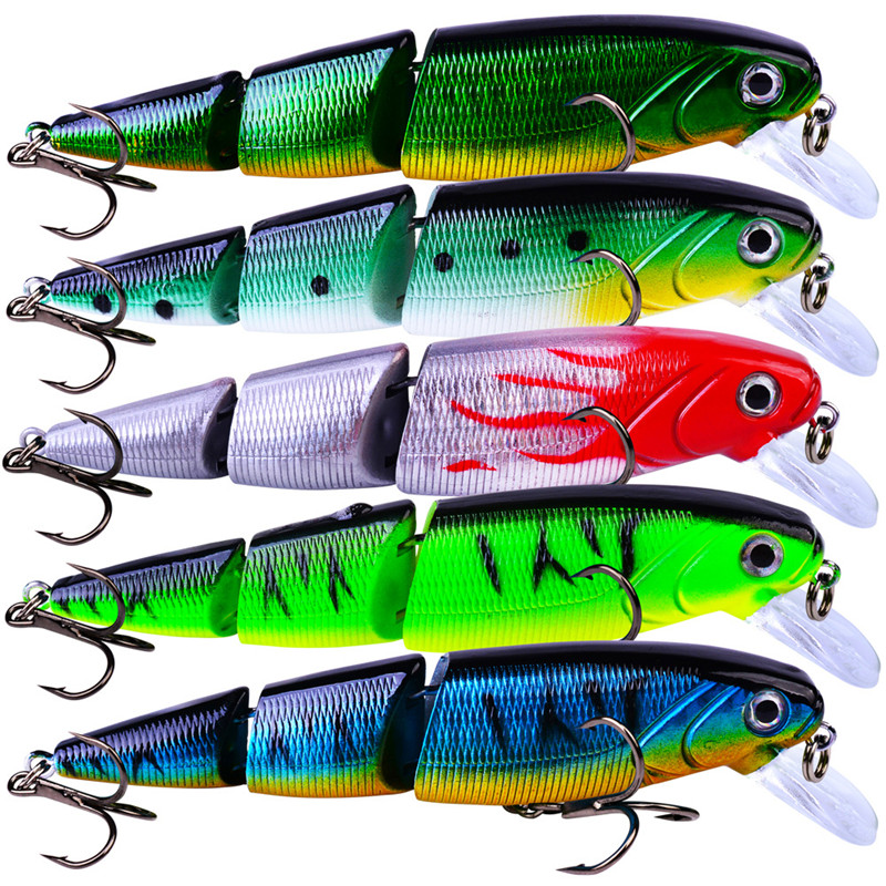 Bionic-Bait Fish-Accessories Artificial-Lures Fishing Plastic 3D Multi-Section Colorful title=