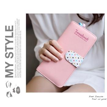 2018 Lovely Women Wallet Fashion Designer Women's Purse Best Phone Wallet Female Case Phone Pocket Money Bag Card Holders