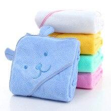 Детское полотенце для новорожденных, удобный мягкий банный халат с капюшоном, Пляжное Хлопковое полотенце с милыми животными, детское одеяло