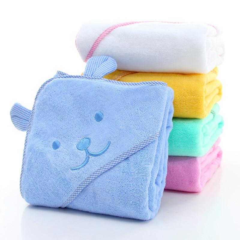 Bébé serviette nouveau-né bain confortable doux bébé peignoir à capuche mignon Animal plage coton serviette enfants bébés couverture