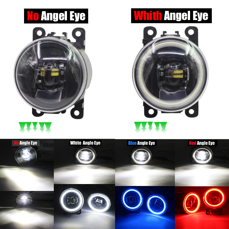 Image 5 - Cawanerl Car Accessories 4000LM LED Bulb Fog Light Angel Eye Daytime Running Lamp DRL 12V For Mitsubishi Pajero 4/IV 2007 2015-in Car Light Assembly from Automobiles & Motorcycles
