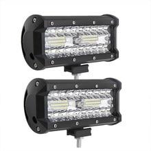 120W Combo listwy świecące LED Spot Flood Beam 4x4 Spot 12V 24V 4WD Barra 7