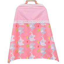 Breastfeeding Cover Breathable Cotton Baby Nursing Cover Muslin Cartoon Mother Apron Blanket Infant Breast Feeding Nursing Cover
