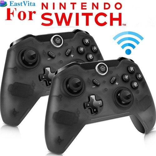 EastVita 1pc/2pcs Bluetooth Wireless Pro Controller Gamepad Joypad Remote for Nintend Switch Console PC Gamepad Joystick