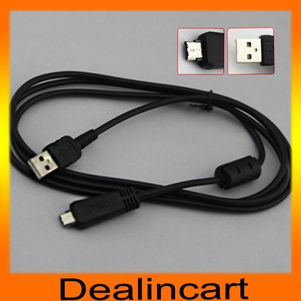 Free shipping USB Digital Camera Cable for Sony Cameras DSC-W350 W360 W370 W380 W390