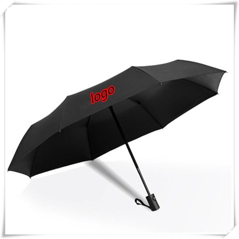 Automatic Folding Umbrella Rain Sunshade Custom Car Logo Emblem For Audi BMW Benz Honda Peugeot Toyota Ford Mazda Nissan Tesla