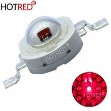 100 adet Yüksek Güç LED çip 3 W Büyümeye Yol Açtı 660nm Derin Kırmızı SMD Diyot COB DIY Bitki Için Işık Büyümek meyve Büyüme
