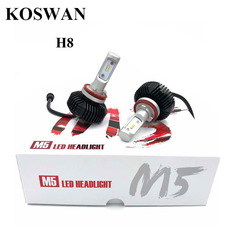 ФОТО Led Headlight Bulb Conversion Kit H8 LED Headlamp Bulb 32W 5600Lm 6000K Cool White Led Car Headlight Bulb Replace for Halogen