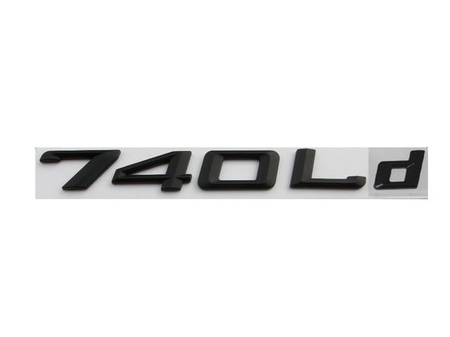 Matte Black ABS Number Letters Word Car Trunk Badge Emblem Letter Decal  Sticker For BMW 7