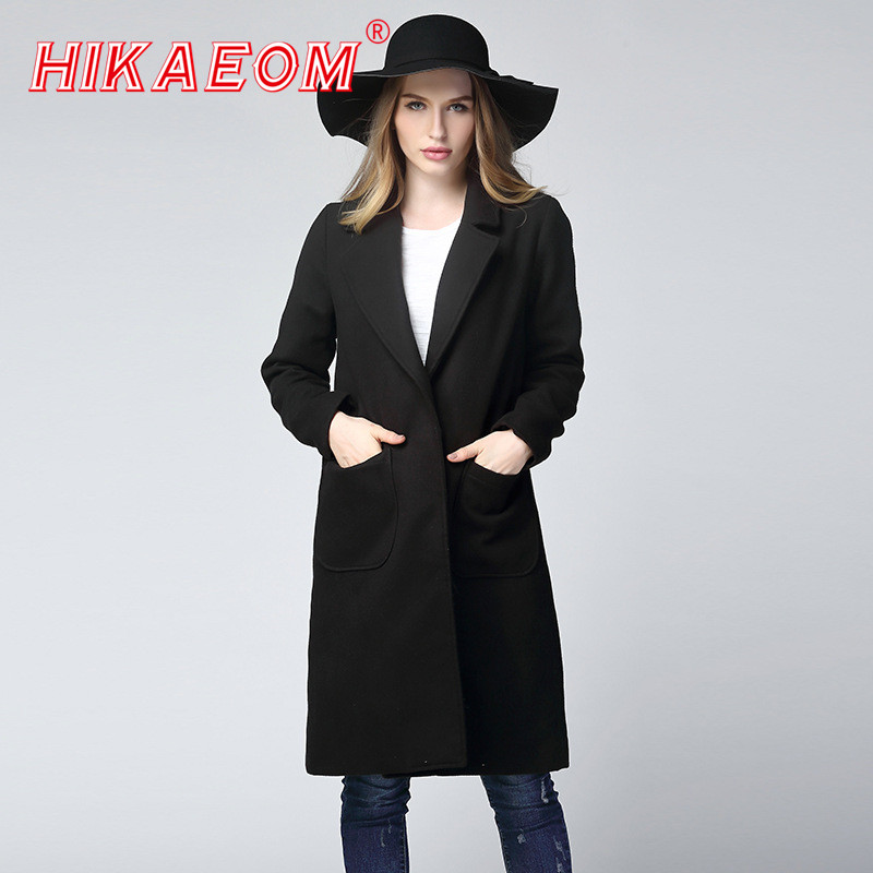 Long Sleeve Winter Wool Coat Women Europe Style Large Size Casaco Feminino Ladies Autumn New Slim