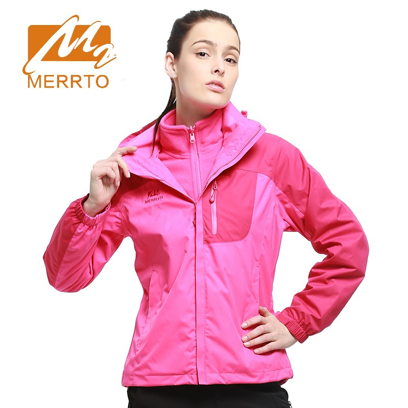 2018 Merrto Women Hiking Jackets Waterproof Windproof Thermal Outdoor Camping Coats Fit Outwear Jackets Free Shipping MT19112 2017 merrto womens fleece hiking jackets mountain clothing thermal color blue pink rose green for women free shipping mt19155