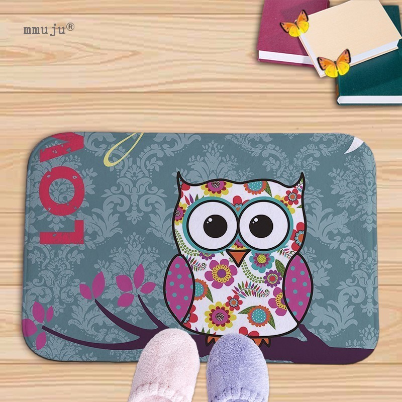 Aliexpress.com : Buy Cartoon Owls Print Bath Kitchen Floor