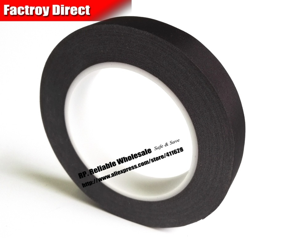 (5mm*30M) Black Cloth, White Glue, Flame retardant Isolate Acetate Tape, Single Adhesive ...