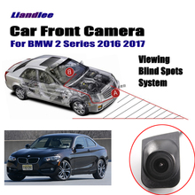 Liandlee Car Front View Camera Logo Embedded For BMW 2 F22 F45 F46 2016 2017 4.3 LCD Screen Monitor Cigarette Lighter Switch