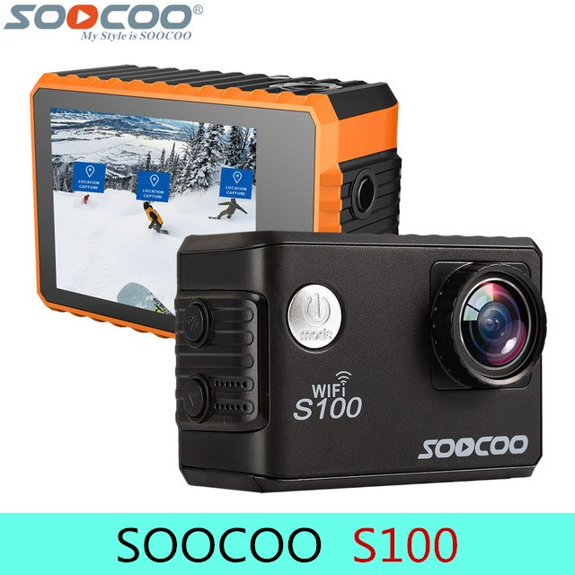 Original SOOCOO S100 30M Waterproof Wifi Sport Action Camera 2.0 inch Touch Screen 4K HD Support Remote Control GPS Nightshot soocoo c30 sports action camera wifi 4k gyro 2 0 lcd ntk96660 30m waterproof adjustable viewing angles