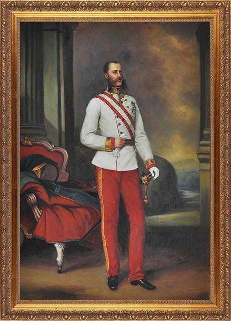 e160c9cdad7a8 Reprodução Da Pintura de retrato do Imperador da Áustria Vestindo O Uniforme  De Um Marechal de