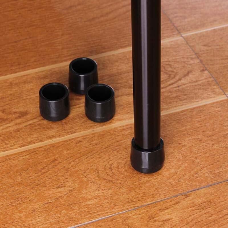 22mm 4Pcs Anti-skid Glides Shock Floor Protector Soft Rubber Furniture Chair Table Feet Leg Bottom Screw On Pad Black Duable