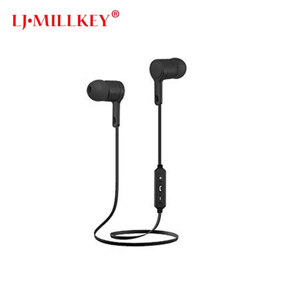 XK-221 Bluetooth Earphone Stereo Headset Wireless Sport Earbud with Mic Voice Control Noise Cancellation LJ-MILLKEY LZ048