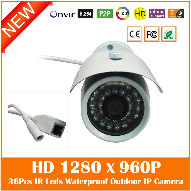Bullet Ip Camera Hd 960p Outdoor Waterproof Home Security White Metal Night Vision Cctv Cmos Webcam Freeshipping Hot Sale wistino white color metal camera housing outdoor use waterproof bullet casing for cctv camera ip camera hot sale cover case