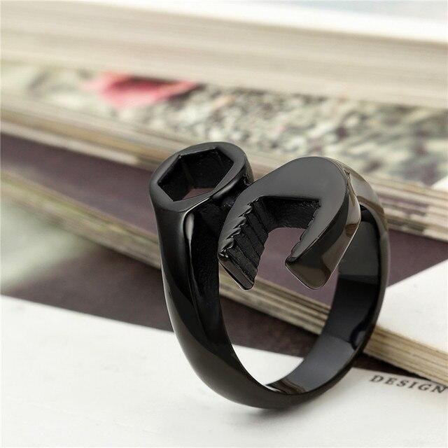 Фото мужские винтажные кольца крутые байкерские механический ключ цена