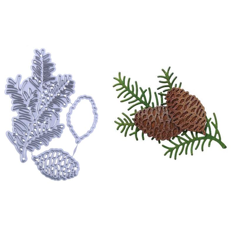 Pine Cone Leaves Fruit Metal Cutting Dies Embossing Stencil Scrapbooking Photo Album Card Making Decoration DIY Craft